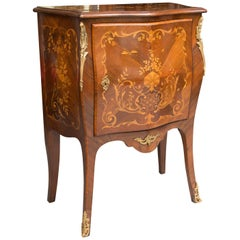 French Louis XV Marquetry Single-Door Cabinet