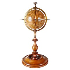 3 Inches French Terrestrial Globe by Delamarche, 1864