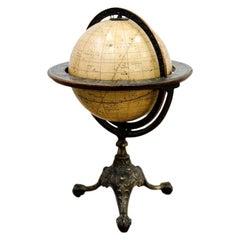 American Celestial Globe, Cast Iron Base