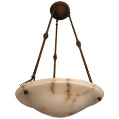 Antique Alabaster Pendant Light Fixture