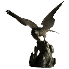 19th Century Japanese Bronze Eagle Meiji Period