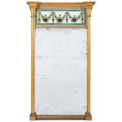Early 19th Century Regency Period Eglomise Giltwood Pier Mirror