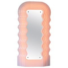 Large Illuminated Floor Mirror by Ettore Sottsass