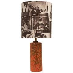 Midcentury Hungarian Studio Ceramic Table Lamp
