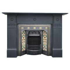 Antique 19th Century Victorian Slate Fireplace Surround