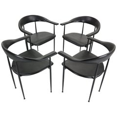 Set of 4 Chairs by Giancarlo Vegni & Gianfranco Gualtierotti for Fasem, Italy