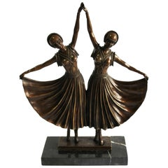 20th Century Art Deco Style Bronze Dancers