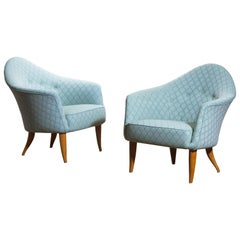 "1950s Pair of ""Little Adam"" Lounge / Easy Chairs by Kerstin Horlin Holmquist"