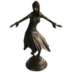 20th Century Art Deco Style Bronze Figure, Demétre Haralamb Chiparus