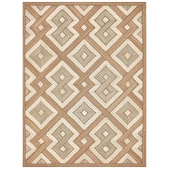 Schumacher Delwen Area Rug in Handwoven Abaca by Patterson Flynn Martin