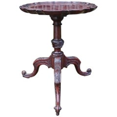 18th Century George III Period Mahogany Antique Wine Table