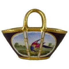 FBB Worcester Porcelain Miniature Porcelain Basket, circa 1815