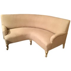 19th Century French Upholstered Corner Sofa, 1890s