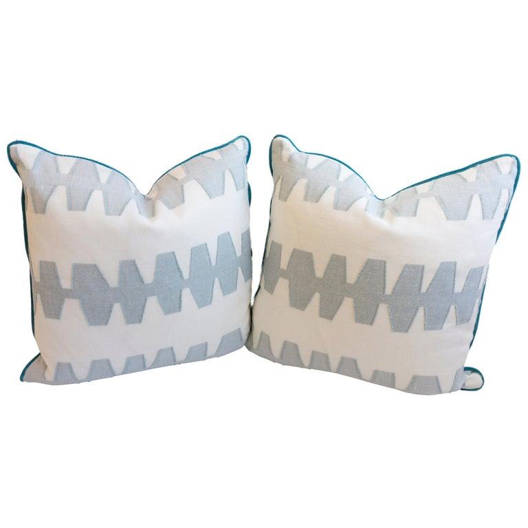 Geometric Linen Pillows For Sale