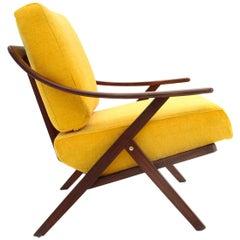 Italian Midcentury Yellow Armchair, 1960s