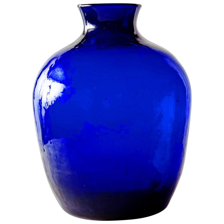 Cobalt Glass Vase For Sale