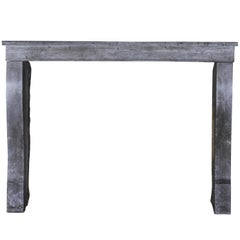 Small Bleu Stone French Antique Fireplace Surround
