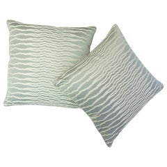 Throw Pillows with Jagged Stripes