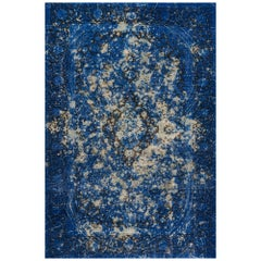 Schumacher Trifid Blue Area Rug in Hand Knotted Wool by Patterson Flynn Martin