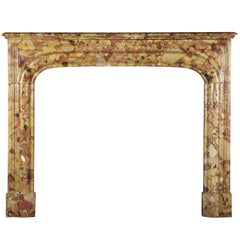 Classic French Antique Fireplace Surround in Royal Breche D'aleppo Marble