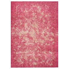 Schumacher Trifid Pink Area Rug in Hand Knotted Wool by Patterson Flynn Martin