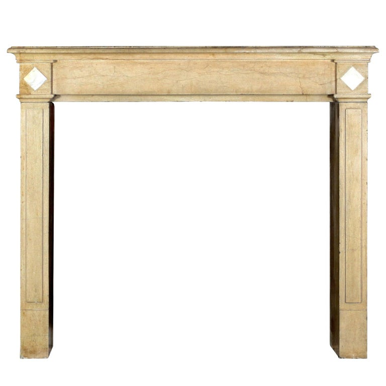 18th Century Fine French Classic Antique Fireplace Stone and Marble Surround For Sale