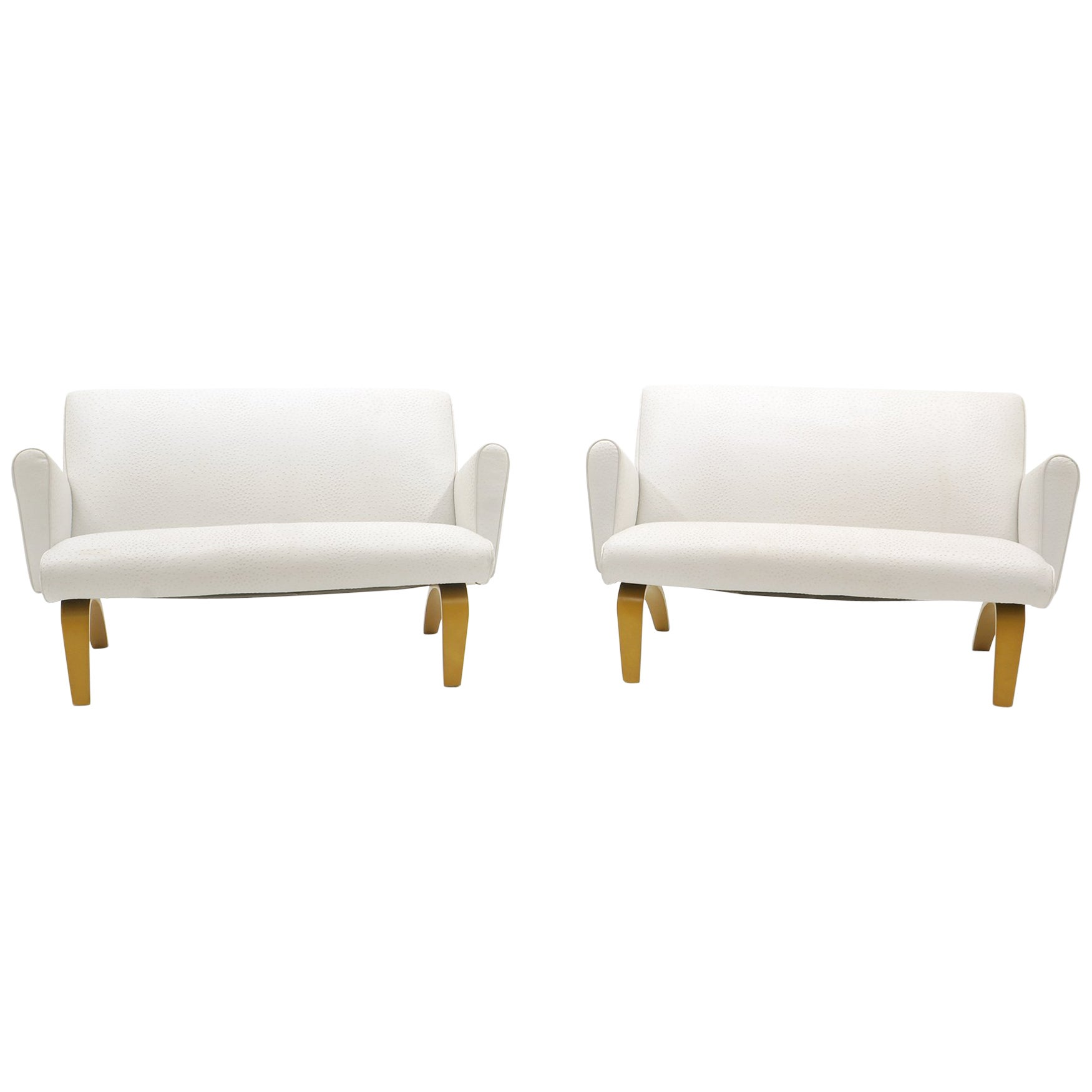 Pair of Loveseats / Settees with Arms by Thonet