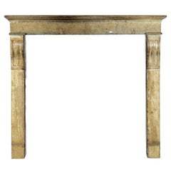 Fine French Small Antique Limestone Fireplace Surround for Cosy Country Interior