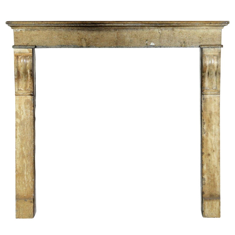 Fine French Small Antique Limestone Fireplace Surround for Cosy Country Interior For Sale