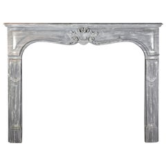 19th Century Fine French Classic Grey Antique Apartment Fireplace Surround