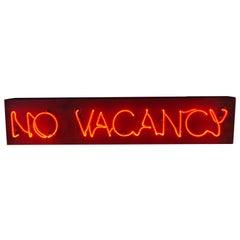 """Vintage Neon Sign """"No Vacancy"""""""