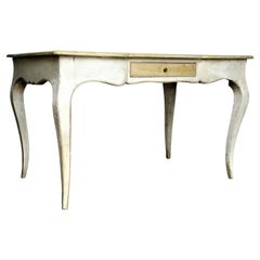 Old Painted & Faux Marbleized Louis XV Style Desk