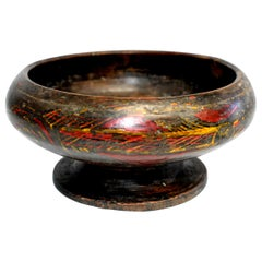 Antique Tibetan Bowl with Wheat Motif