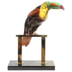 Hand Painted Porcelain Toucan Designed by Mangani