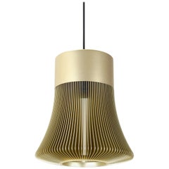Le Sergent Pendant Lamp Anodized Aluminum in Gold Color by Michael Young