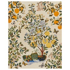 Schumacher Citrus Garden Area Rug in Handwoven Wool by Patterson Flynn Martin