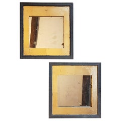 Pair of 19th Century Oak Frames with Gilt Decoration and Antique Mirrors