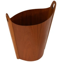 Like New Teak Waste Basket from Einar Barnes, Norway, 1960s