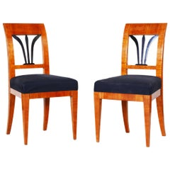 Pair of Czech Biedermeier Chairs, Bohemia, Cherry-Tree, Period 1820-1829