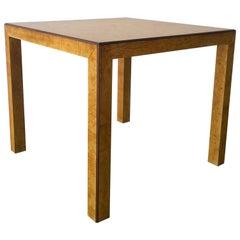 Mid-Century Modern Signed John Widdicomb Burl Wood Veneer Game / Dining Table