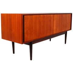 Simply Teak Sideboard or Credenza from the 1960s, Made in Denmark
