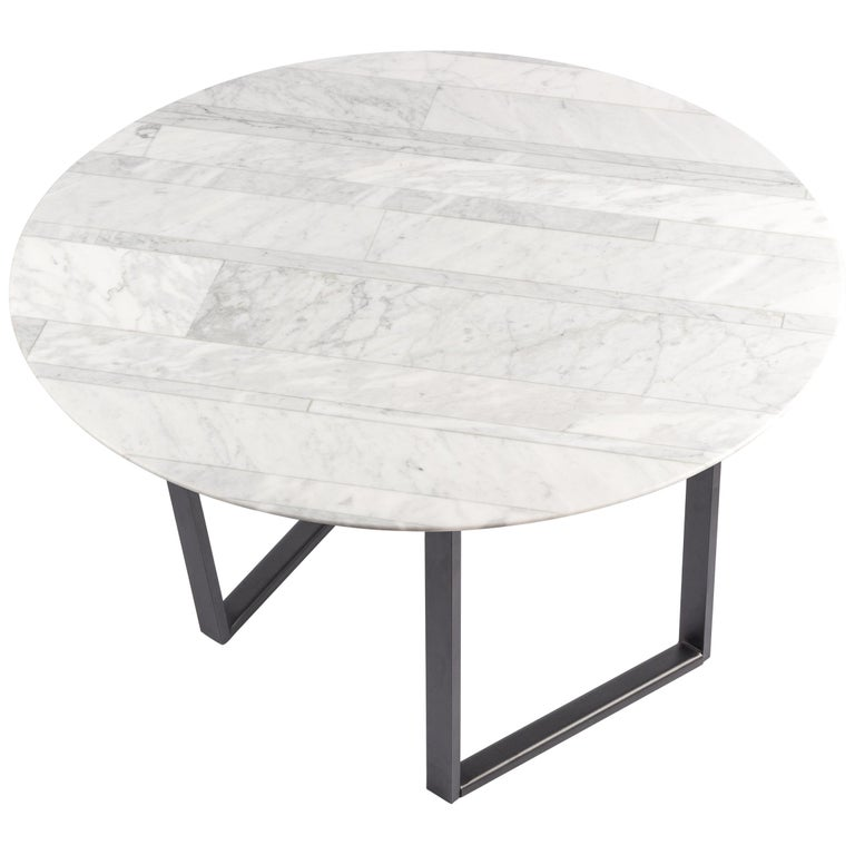 Round Dritto side table by Piero Lissoni for Salvatori, new, offered by Salvatori