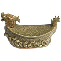 Dragon Ceramic Pillow Long Quan Kiln