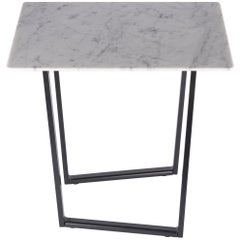 Salvatori Small Square Dritto Side Table by Piero Lissoni