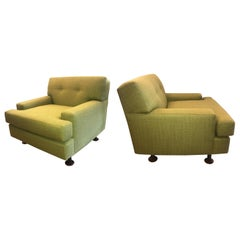 "Marco Zanuso ""Square Series"" Pair of Lounge Chairs"