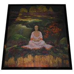 Meditation Painting Henri Caro-Delvaille Vanderbilt Estate Large Oil on Canvas