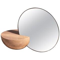 Marble Countertop Mirror, Half Sphere