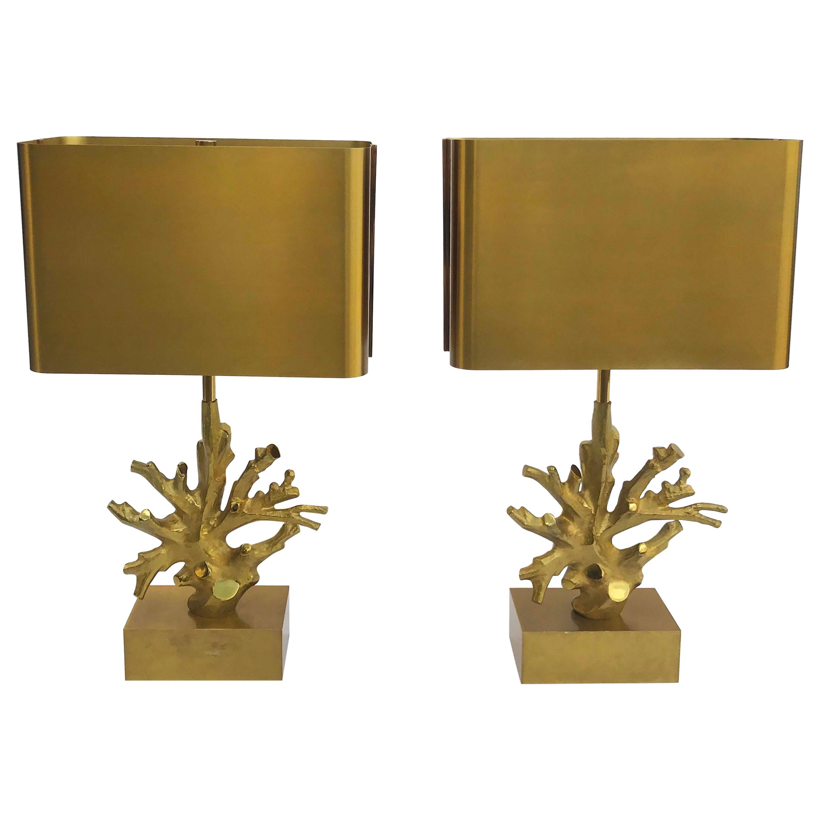 Pair of Signed Maison Charles Table Lamp
