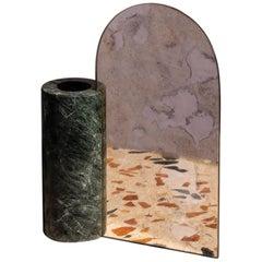 Marble Countertop Mirror, Vase