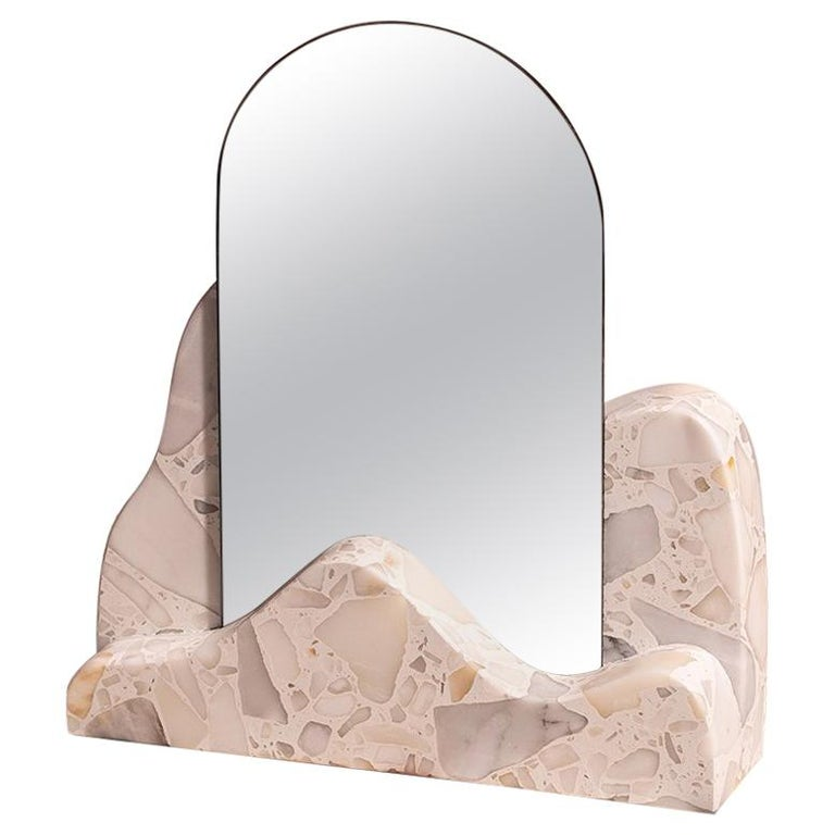 Marble Countertop Mirror, Dune For Sale